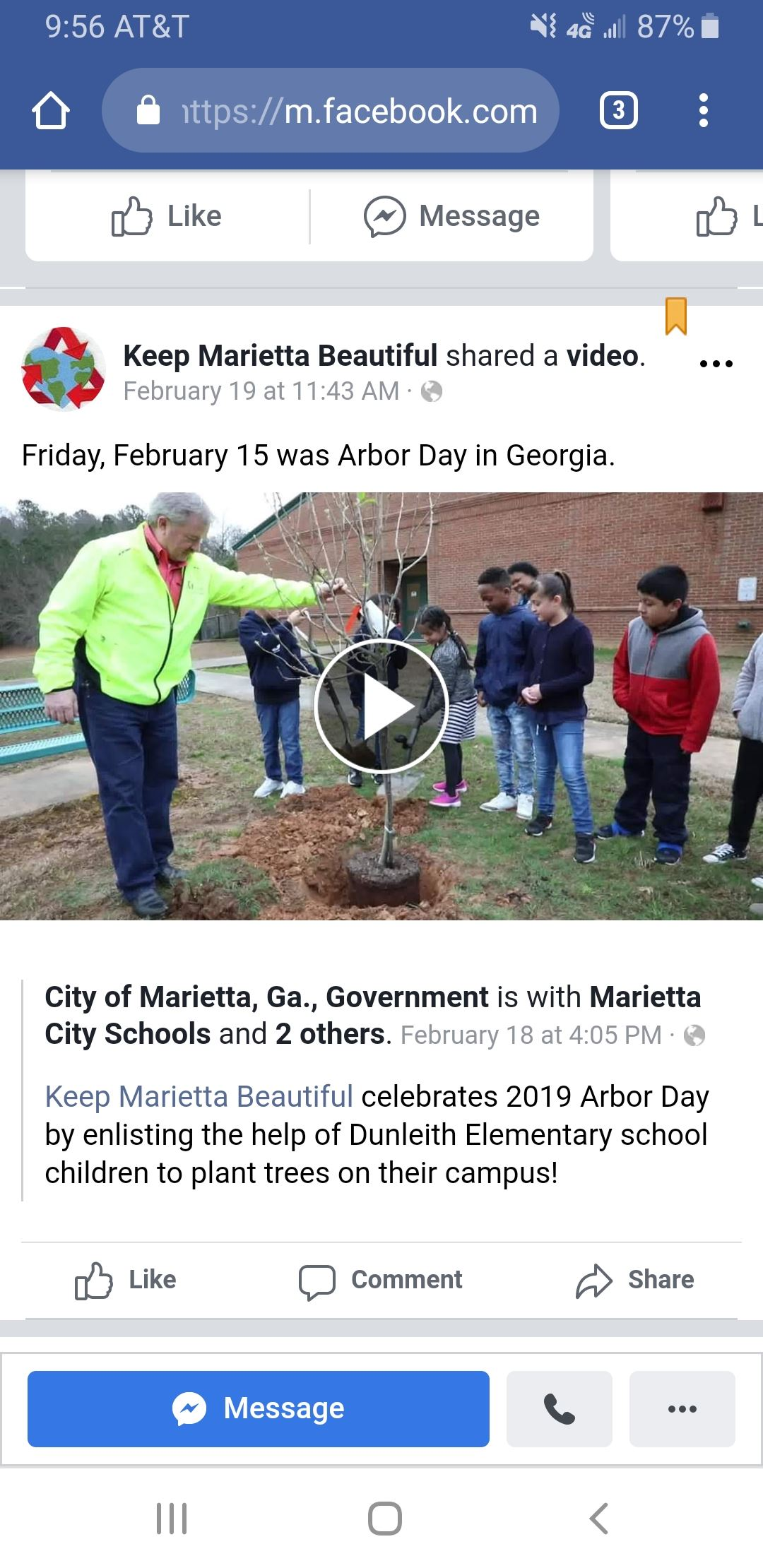 Arbor Day Video (Click Here)