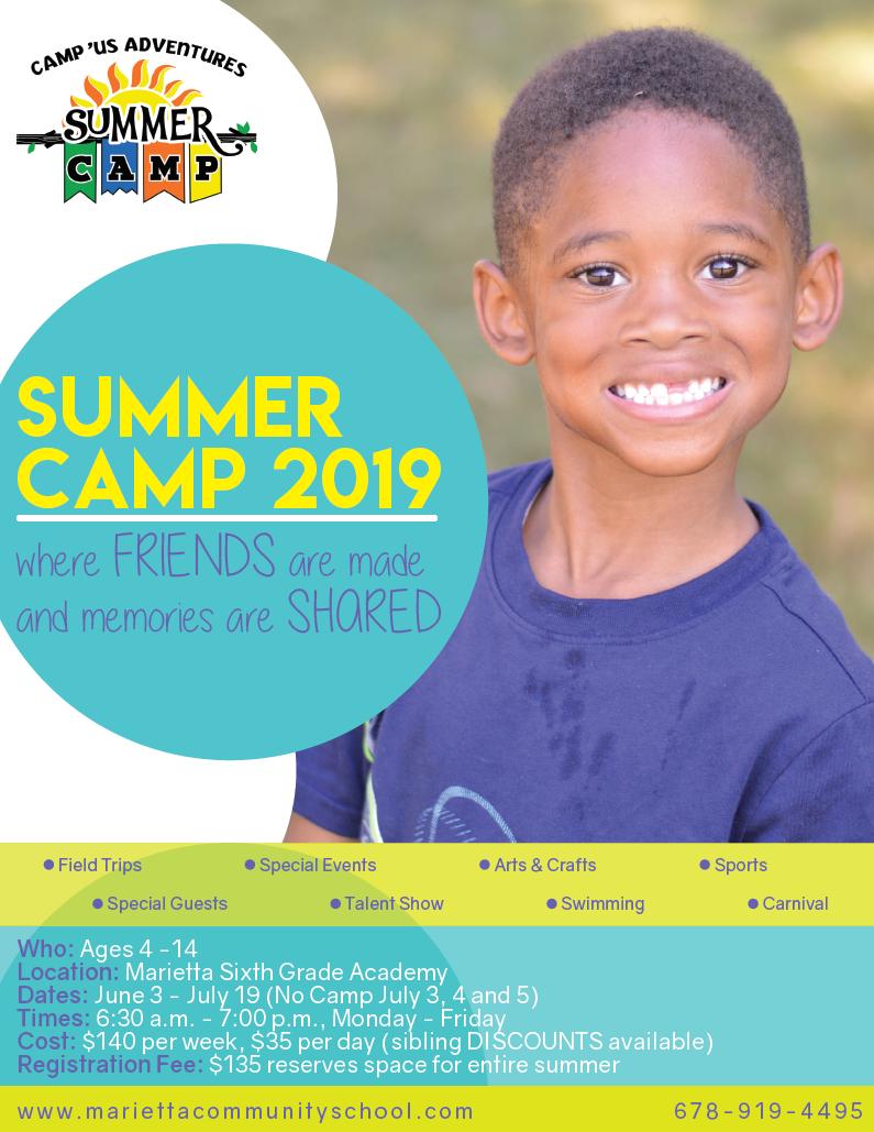 Summer Camp 2019. June 3 -  July 19