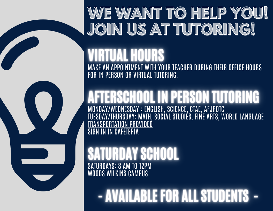 Join us for tutoring