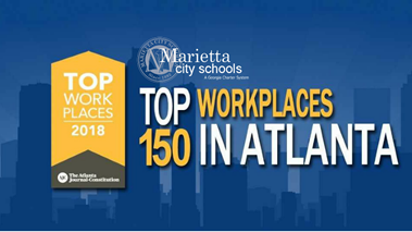 Marietta City Schools Named 2018 Top Workplace by AJC