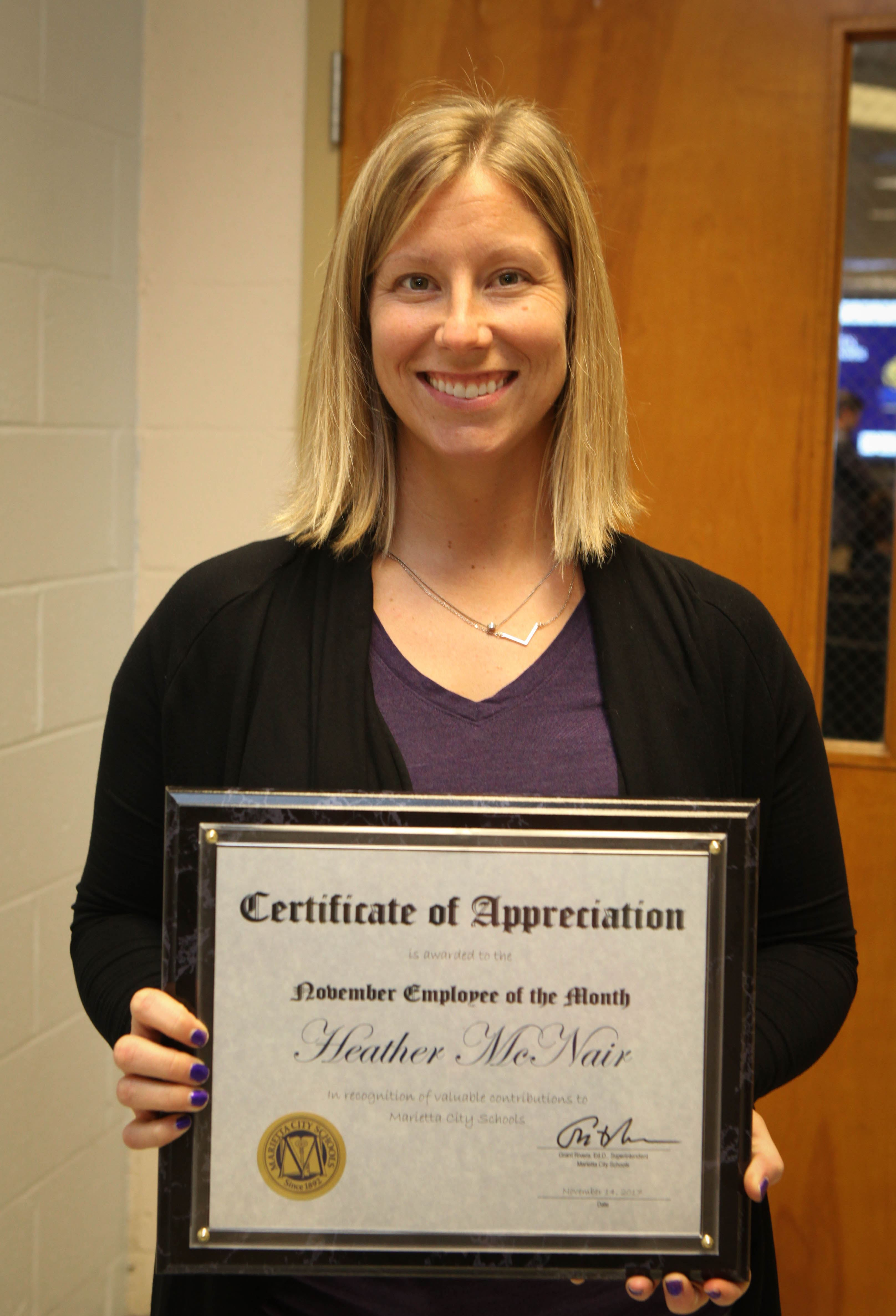 November Employee of the Month: Heather McNair