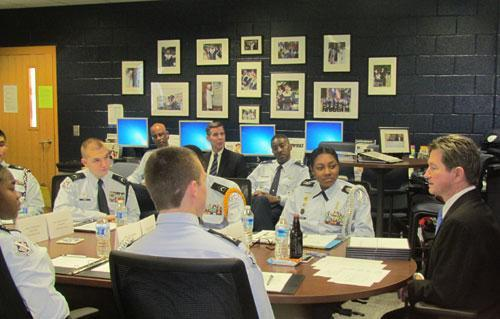 02/12 Marietta High School Air Force JROTC  Earn Highest Rating in Unit Evaluation