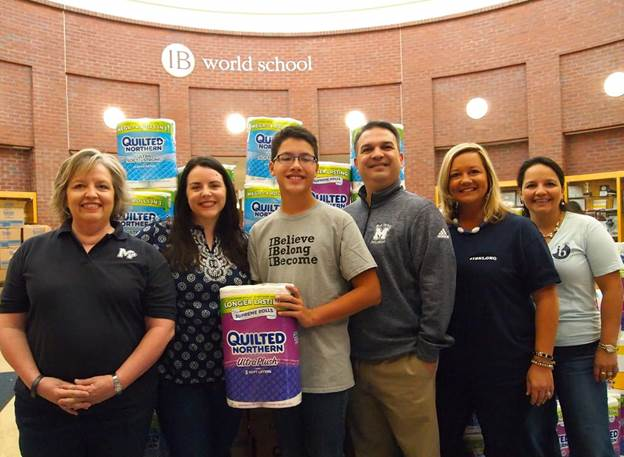 Marietta High School Student Leads Community with Hurricane Harvey Rolls of Relief Project