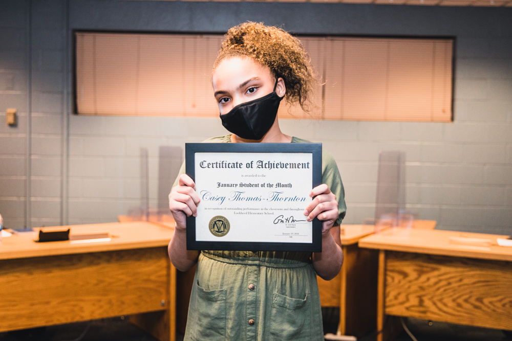 Casey Thomas-Thornton: Januaray Student of the Month