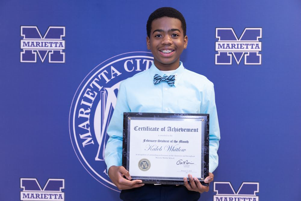 Kaleb Whitlow: February Student of the Month