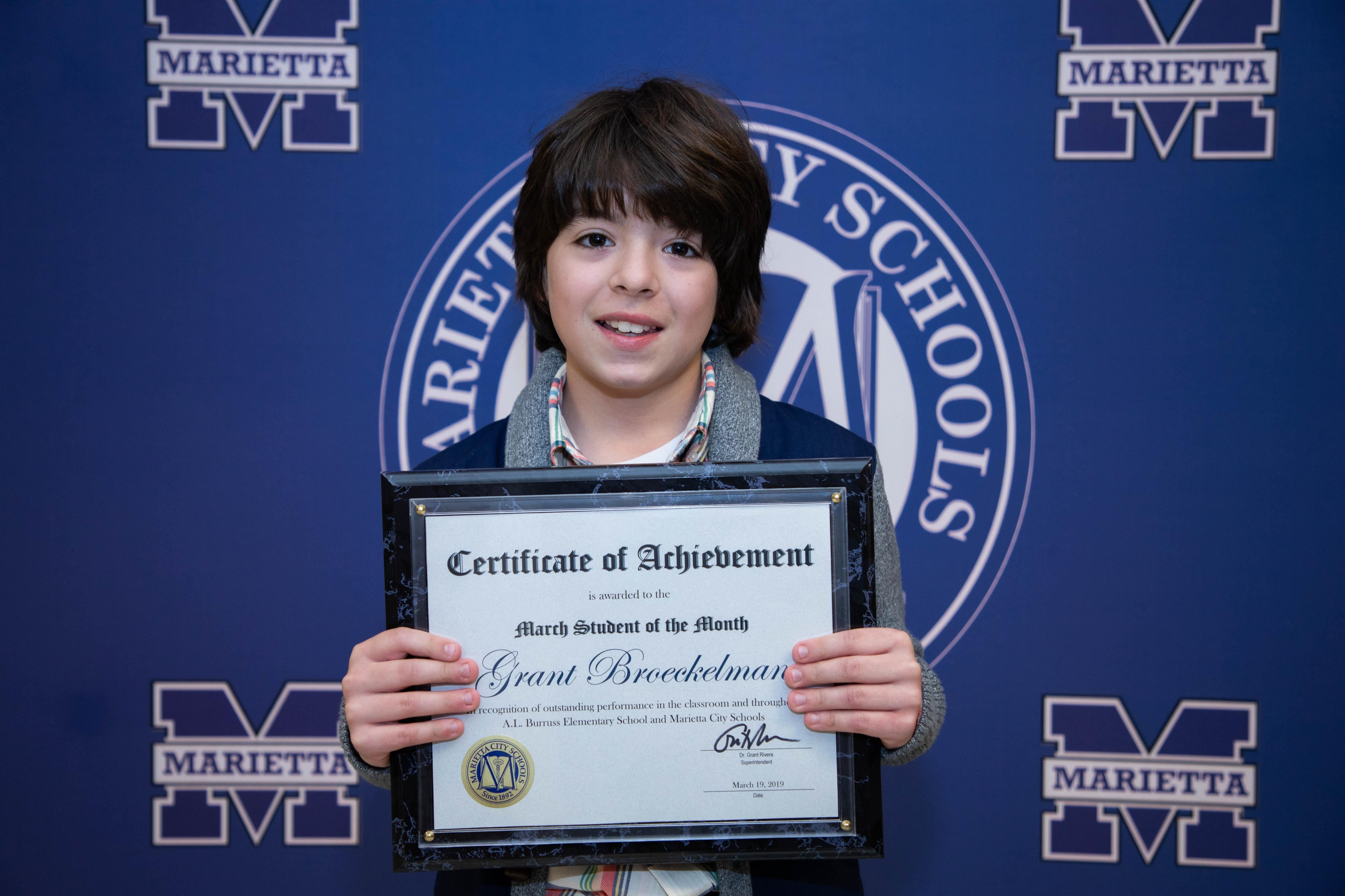 Grant Broeckelman: March Student of the Month