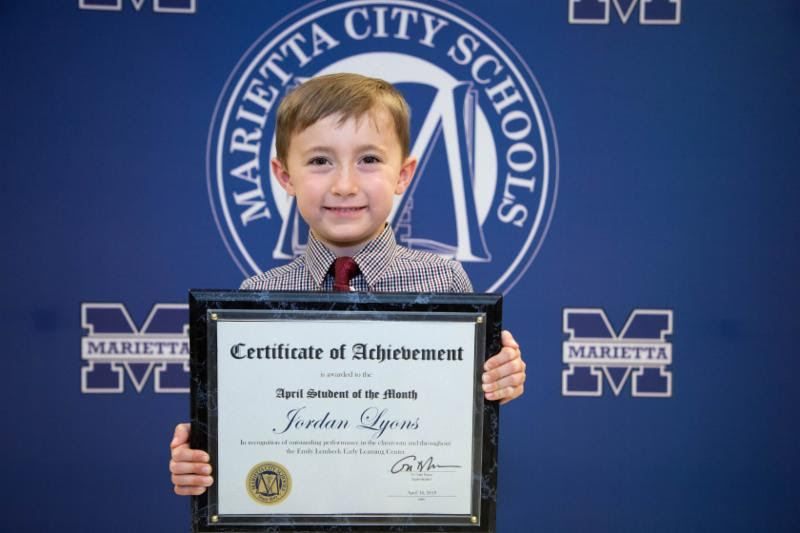 Jordan Lyons: April Student of the Month