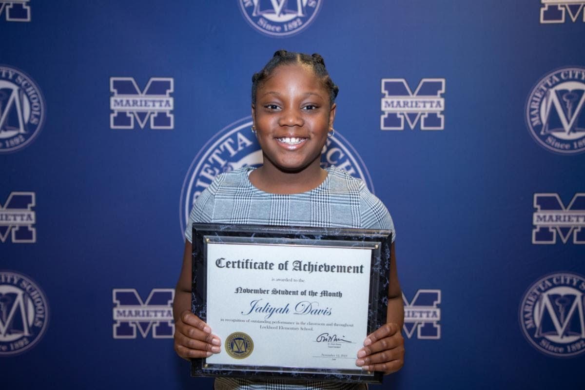 Jaliyah Davis: November Student of the Month