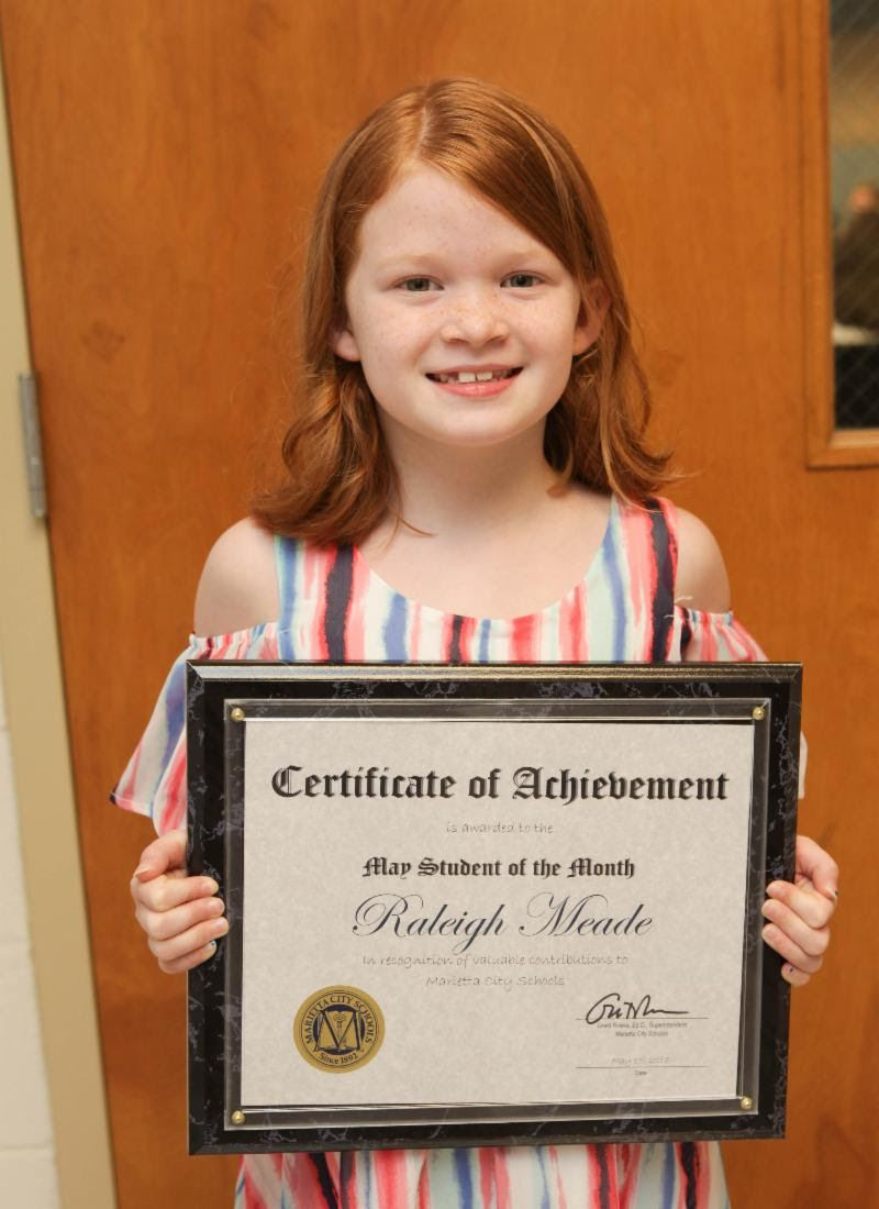 Raleigh Meade: May Student of the Month