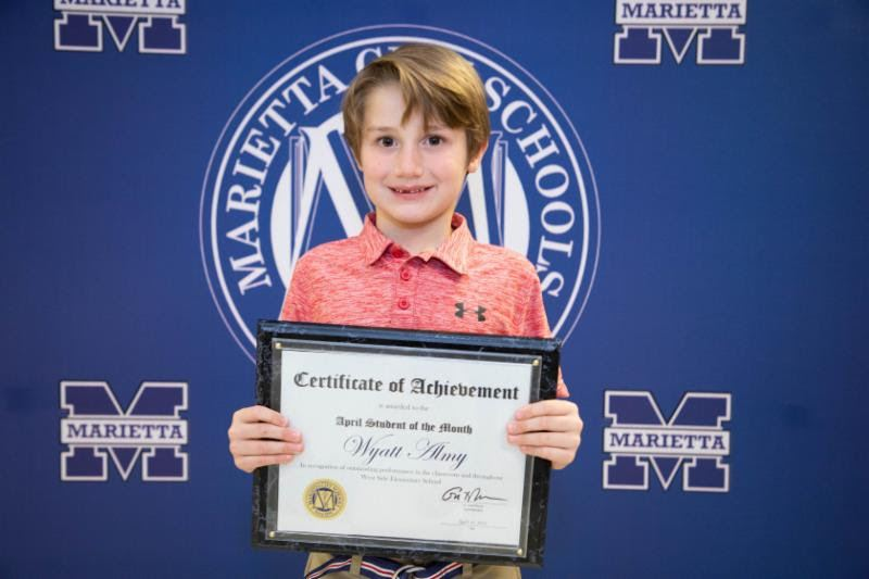 Wyatt Almy: April Student of the Month