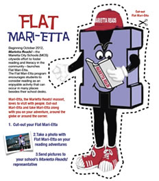 Flat Mari-Etta cut out