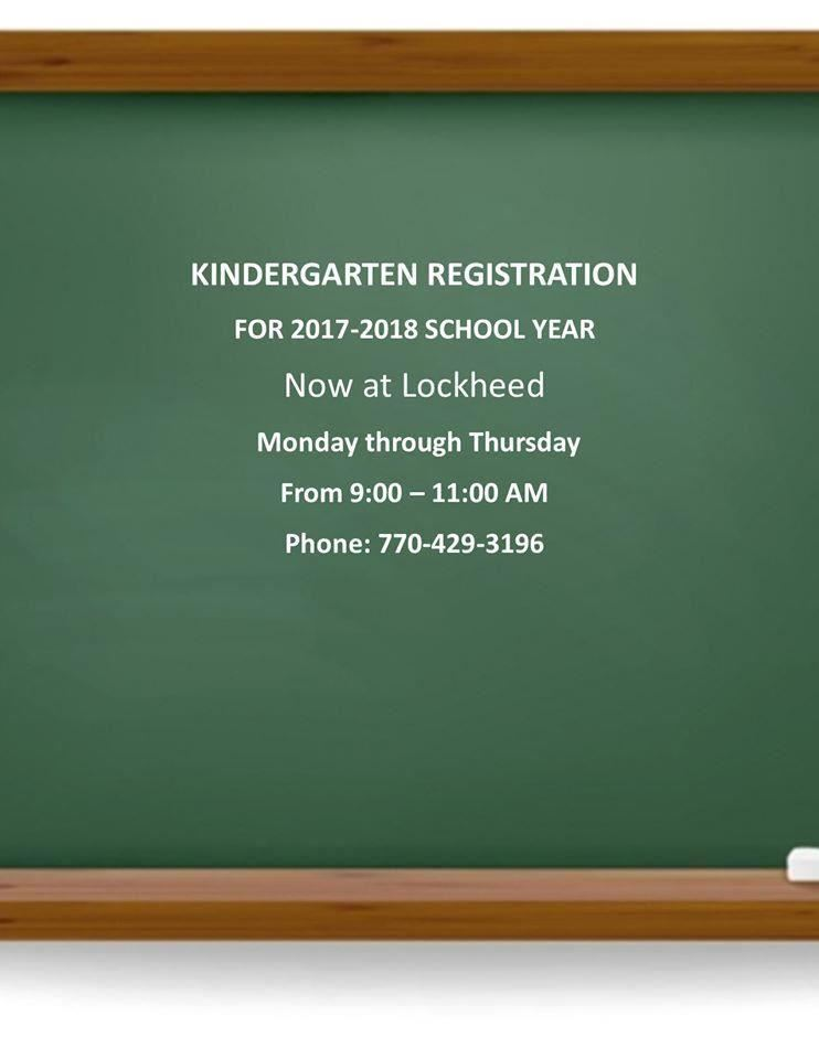 Lockheed Kindergarten Registration for 2017-2018 School Year - Now Open