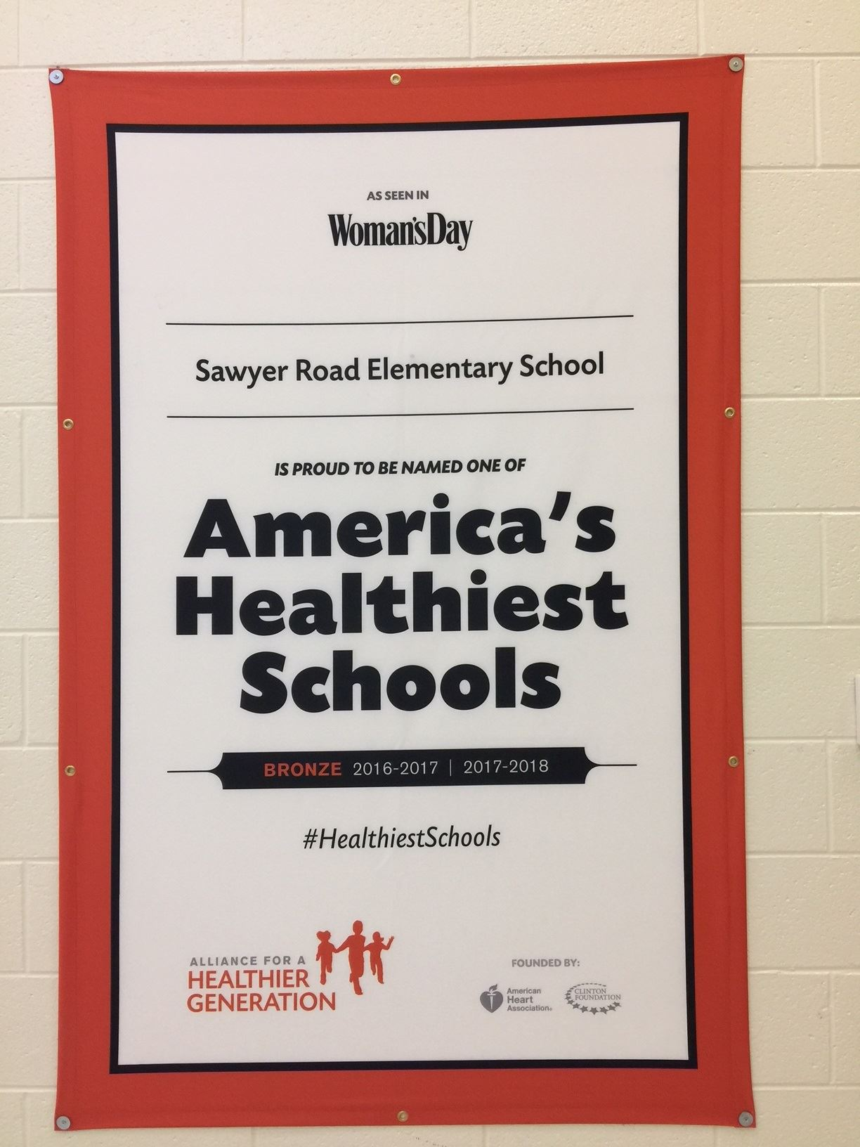Sawyer Road recognized as one America's Healthiest Schools