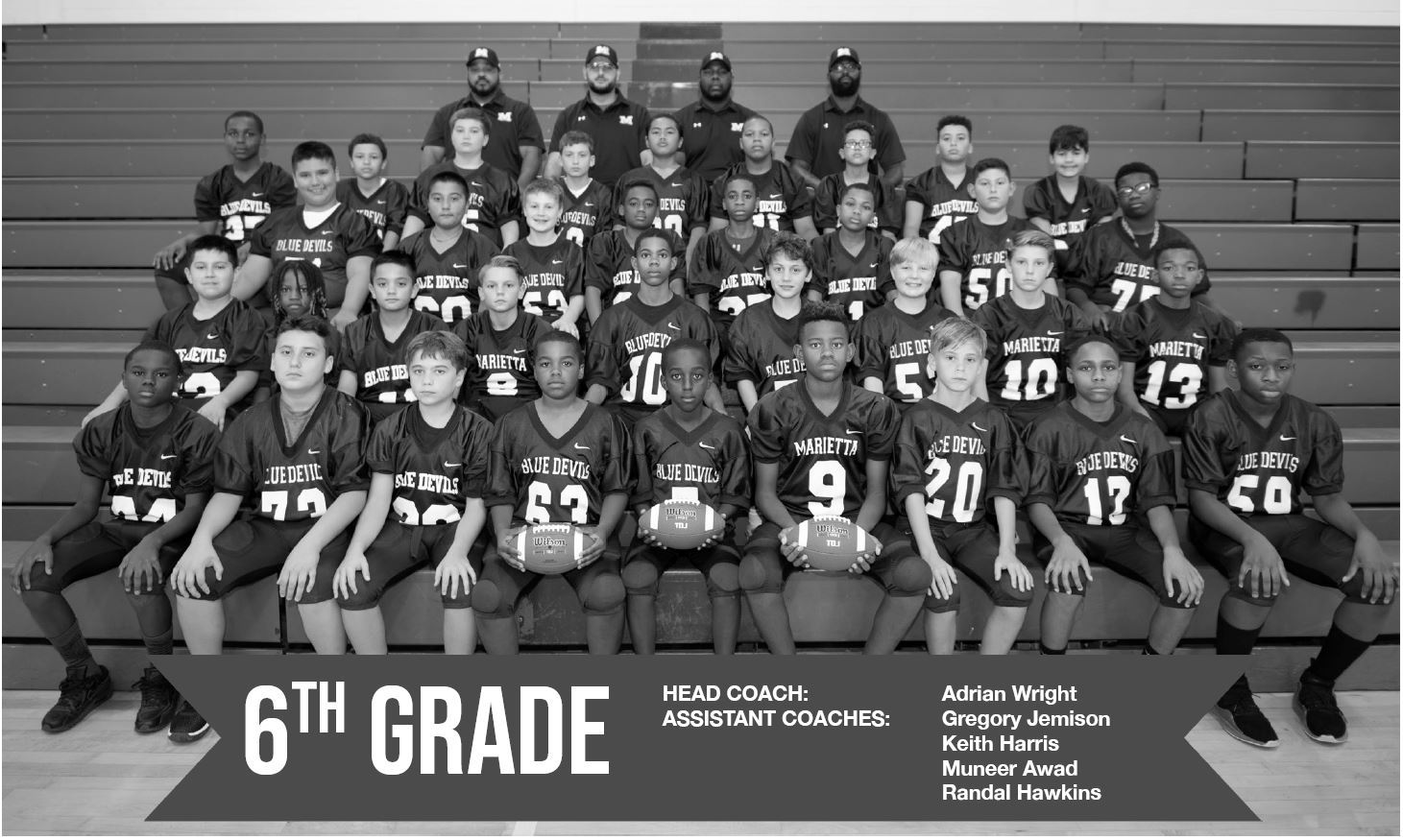 6th Grade Football Team 2018-19