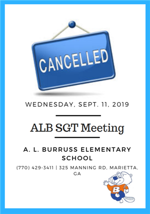 Cancelled meeting 2019