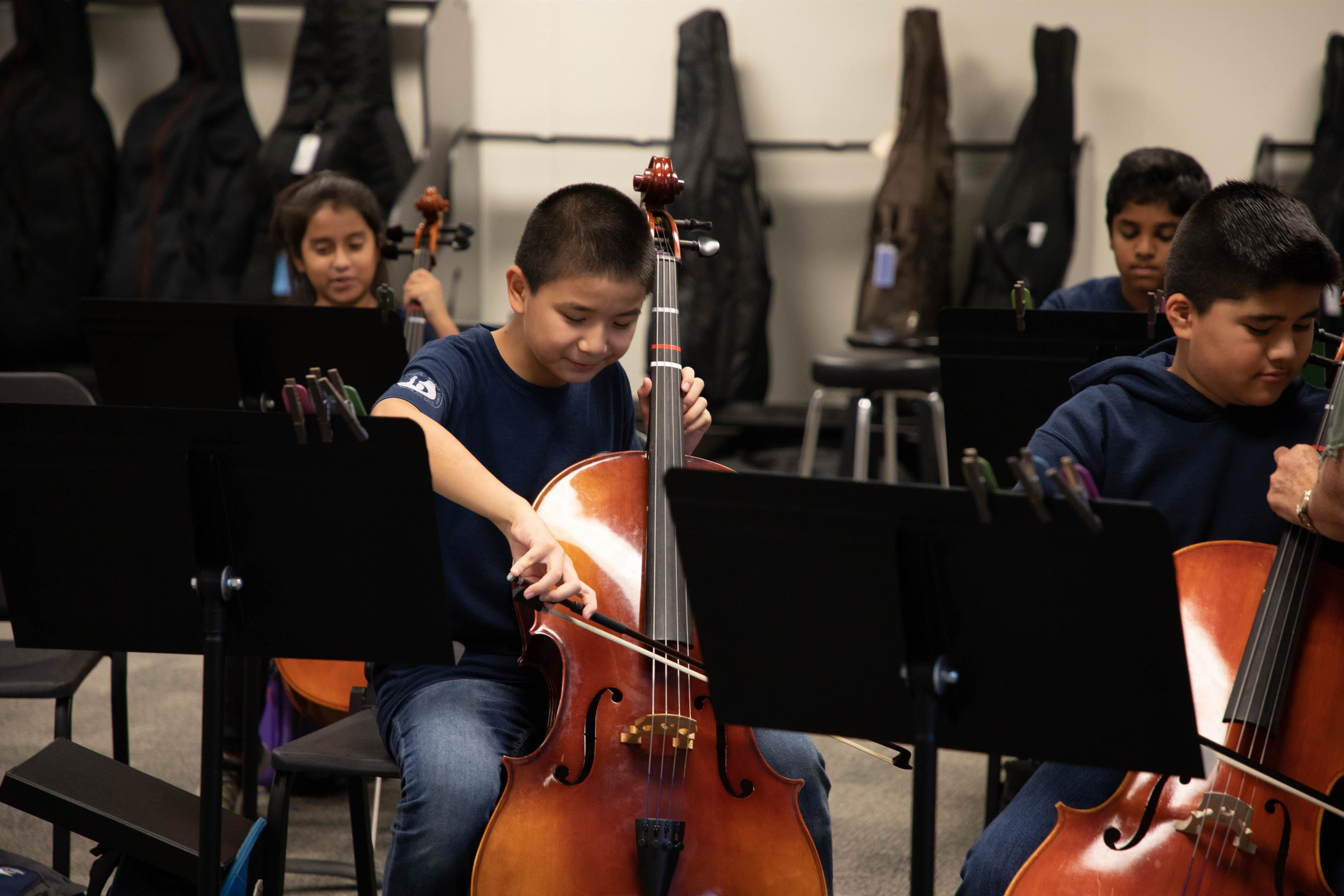 MSGA student playing cello